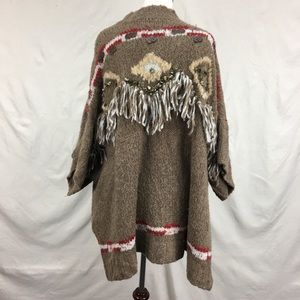Free People Dark Crystal Pullover Alpaca Poncho